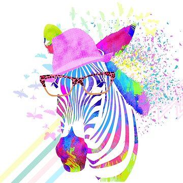 Funky neon zebra by levman