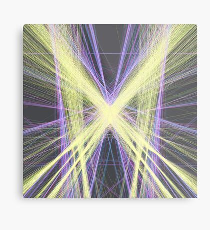 Linify Yellow butterfly Metal Print