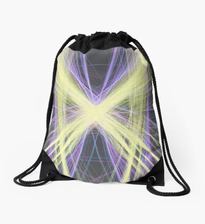 Linify Yellow butterfly Drawstring Bag