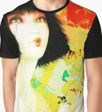 Maiko and Butterlies Graphic T-Shirt