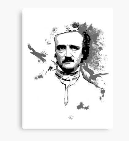 Poe, Edgar Allan Poe T.shirt Canvas Print