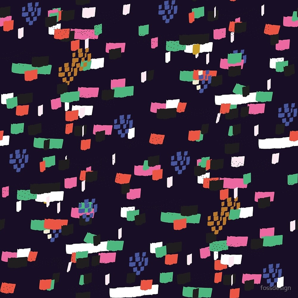 Confetti - Navy by fossdesign