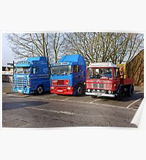Classic Commercial Lorries  Poster
