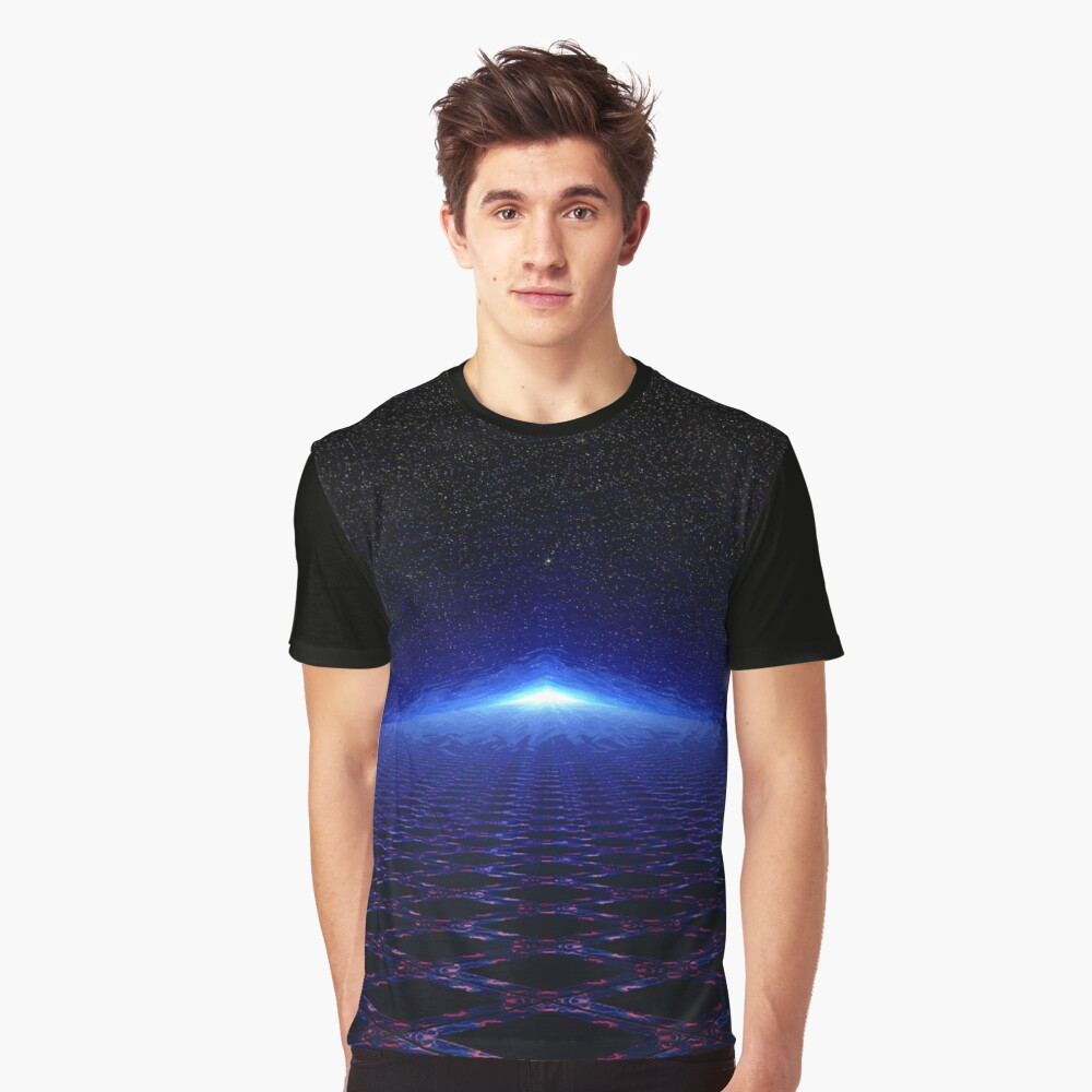 Time Portal In Space Graphic T-Shirt Front