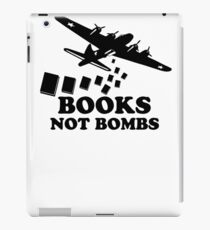 Funny Books Not Bombs iPad Case/Skin