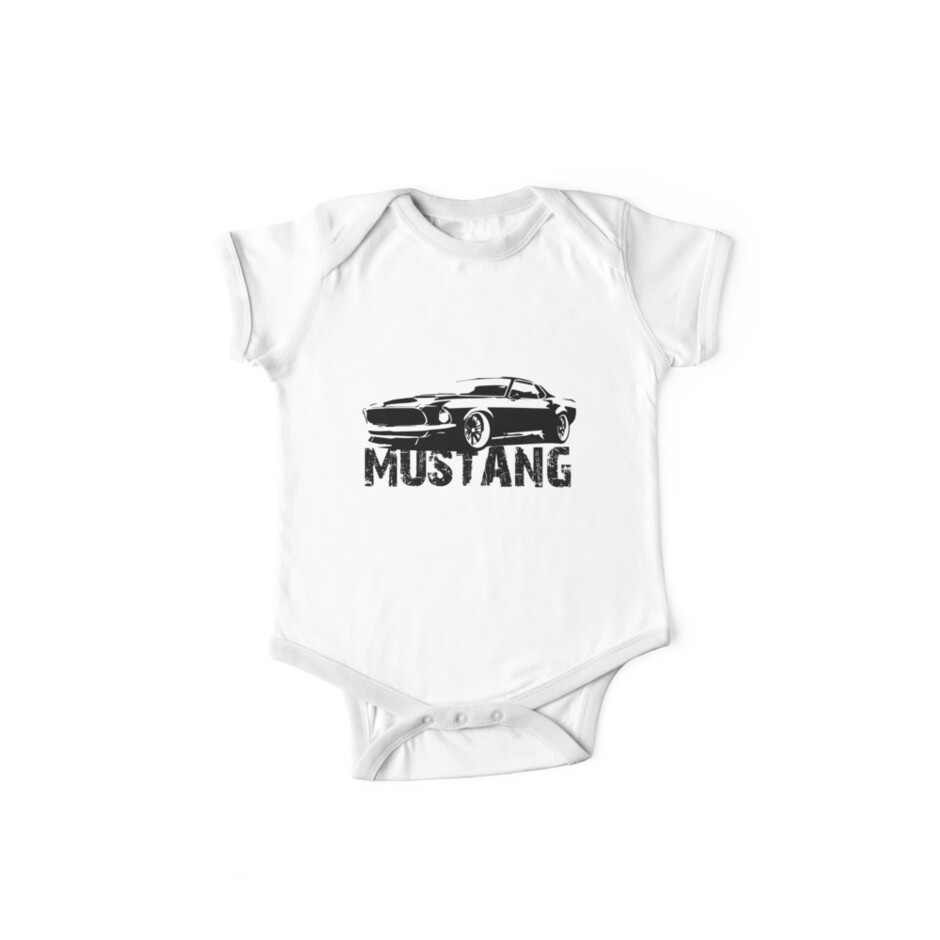 Ford Mustang - Front with words by HogarthArts