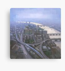 London, Looking West from the Shard Canvas Print