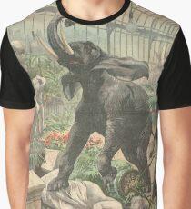 Elephant rampage Crystal Palace London 1900 Graphic T-Shirt