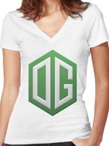 OG dota 2 Women's Fitted V-Neck T-Shirt