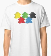 Set of 5 meeples (Board game tokens) Classic T-Shirt