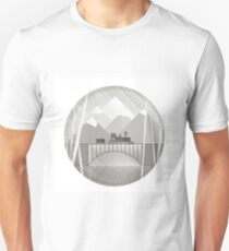 train bw Unisex T-Shirt