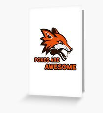 Foxes Are Awesome Cool Animal Nature Cute Fun Greeting Card