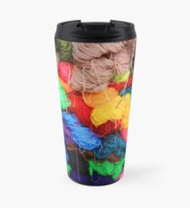 Colorful Yarn Travel Mug