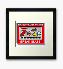 In case of Gamer Invasion Framed Print