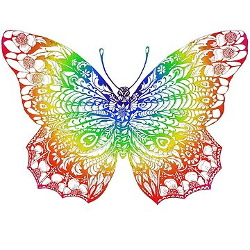 Colourful Decorative Butterfly by DecorativeD