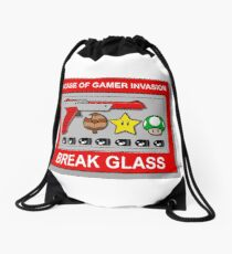 In case of Gamer Invasion Drawstring Bag
