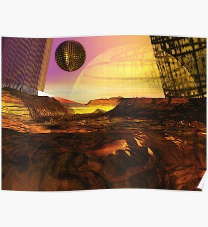 Alien Landscape #1 Poster