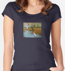 Flock of 8 bits Women's Fitted Scoop T-Shirt