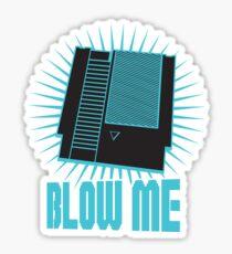 Nintendo Blow Me Cartridge Funny T-Shirt Sticker