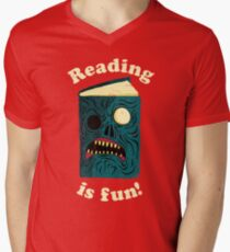 Reading is Fun Men's V-Neck T-Shirt