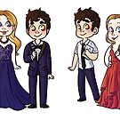 Betsy Wolfe and Darren Criss  by Sunshunes