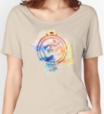colorful ohm elephant logo Women's Relaxed Fit T-Shirt