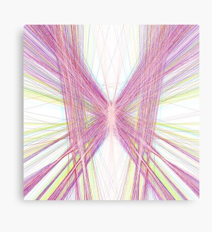 Linify Pink butterfly Metal Print