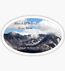 Mount St Helens lava dome 2 oval Sticker