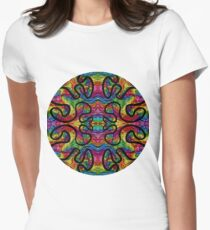 Psychedelic Abstract colourful work 226 Crest Women's Fitted T-Shirt