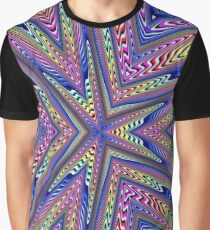 6 Point Abstract Graphic T-Shirt