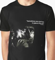 Bukowski 'Sometimes you just have to piss in the sink!' Graphic T-Shirt