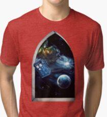 Whovian window :)  Tri-blend T-Shirt