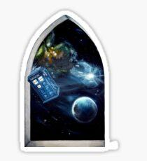 Whovian window :)  Sticker