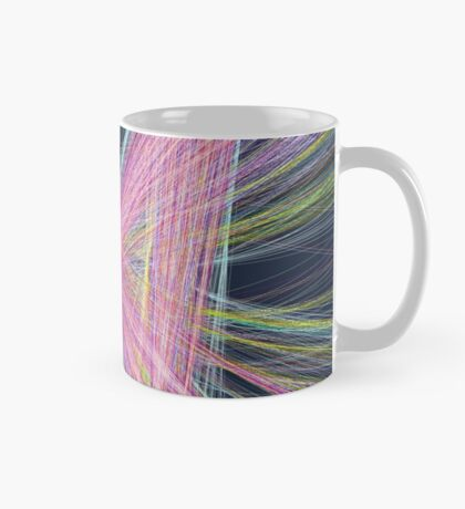 Linify Pink butterfly on dark background Mug