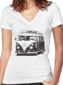 VW Wanderer Women's Fitted V-Neck T-Shirt