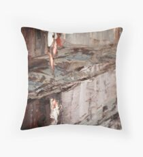 Abstract rain Throw Pillow
