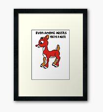 Rudolph The Red Nosed Reindeer Misfit Framed Print
