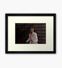 WTNV - Carlos and the Library Framed Print
