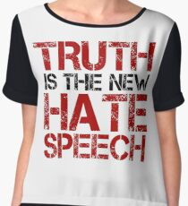 Truth Free Speech Political Offensive Liberty Freedom Chiffon Top