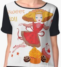 Cute cartoon fairy Women's Chiffon Top
