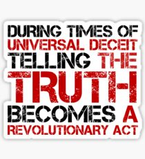 George Orwell Quote Truth Freedom Free Speech Sticker