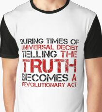 George Orwell Quote Truth Freedom Free Speech Graphic T-Shirt