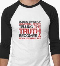 George Orwell Quote Truth Freedom Free Speech Men's Baseball ¾ T-Shirt