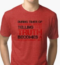 George Orwell Quote Truth Freedom Free Speech Tri-blend T-Shirt