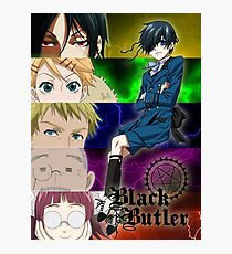 Black Butler - Ciel and his servants Photographic Print