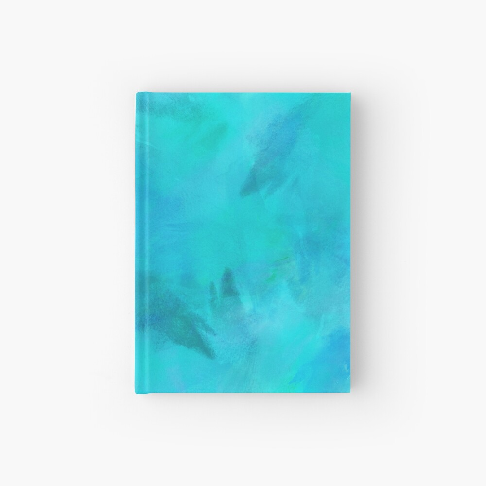 Purple Aqua Teal Turquoise Blue Watercolor Paper Texture Background |  Hardcover Journal