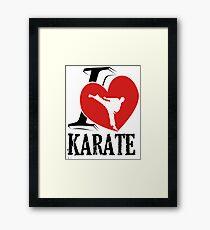 i love karate japanese martial art Framed Print