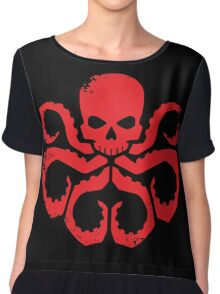 HYDRA Badge - Red Chiffon Top