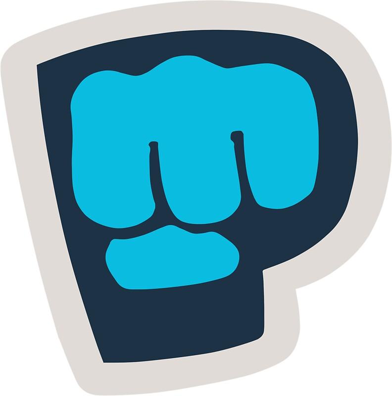 quotpewdiepie brofist logoquot stickers by jackre11 redbubble