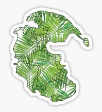 Leafy Pangea Sticker